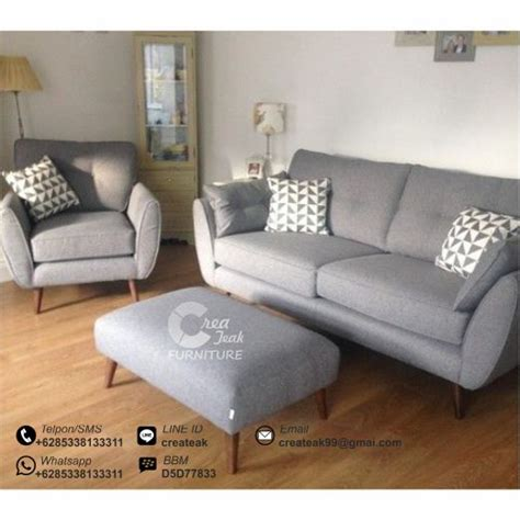 Sofa Mungil Murah set sofa tamu retro sarada createak furniture createak furniture