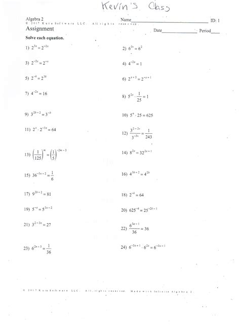 Solving Exponential Equations Using Logarithms Worksheet by Solving Exponential Equations Worksheet Tessshebaylo