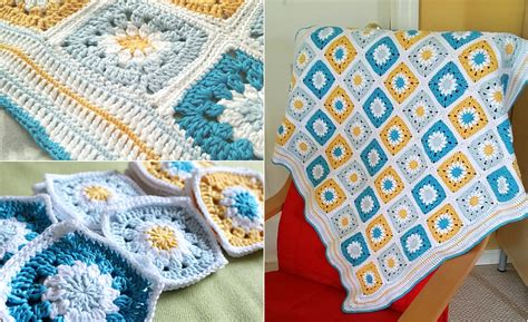 Squares Baby Blanket by Easy Square Baby Blanket Free Pattern Diy Smartly