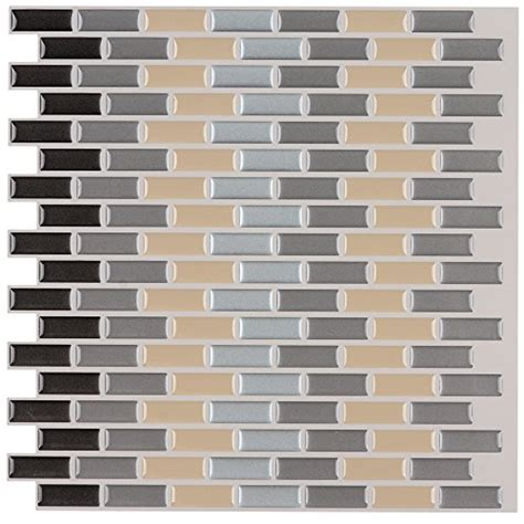 6 pack peel and stick brick backsplash tiles kitchen smart ecoart peel and stick self adhesive wall tile for kitchen