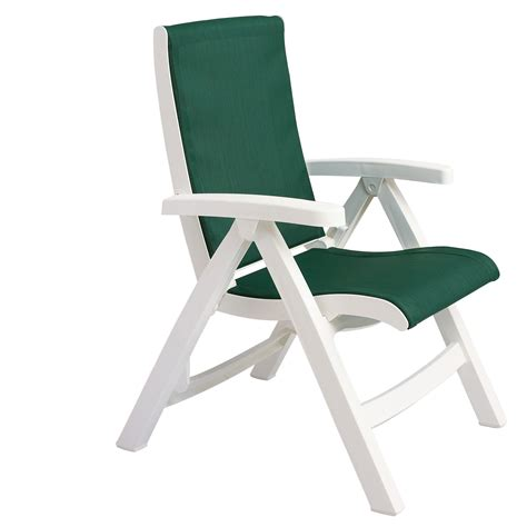 White Sling Patio Chairs by Grosfillex Ct089004 Jersey Midback Folding Sling Chair
