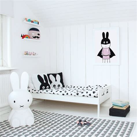 10 black and white kids rooms tiny little ebabee likes scandinavian style kids rooms archives