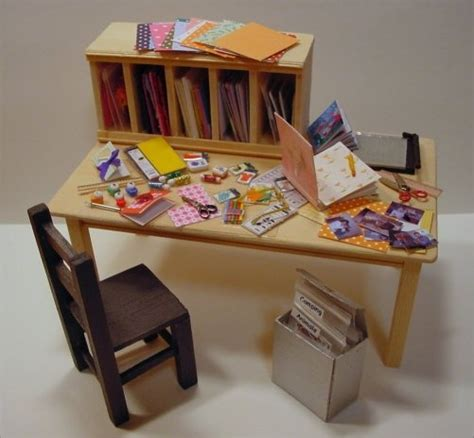 miniature diy projects dollhouse miniature craft desk so got this pic from