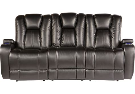 rooms to go recliner kingvale black power reclining sofa sofas black