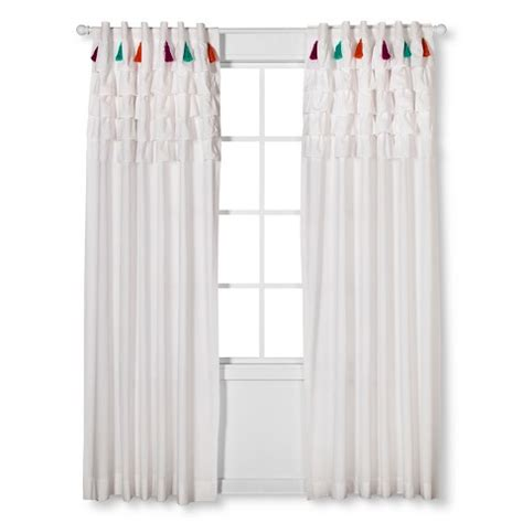 Boho Boutique Tassel Curtain Panel White 84 Quot Target