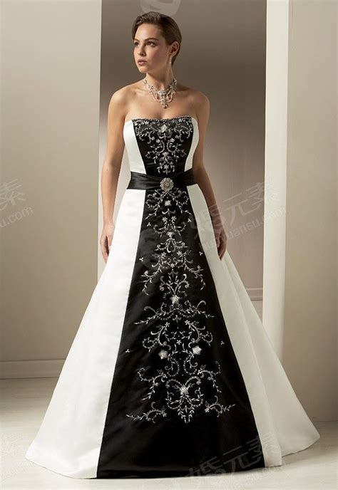 Black And White Wedding Dresses by Black And White Wedding Dress Wedding
