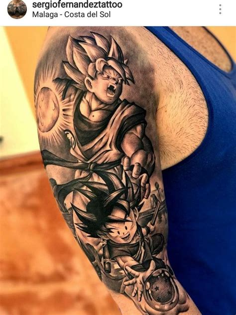 collection of 25 full sleeve dragonball z cartoon tattoo