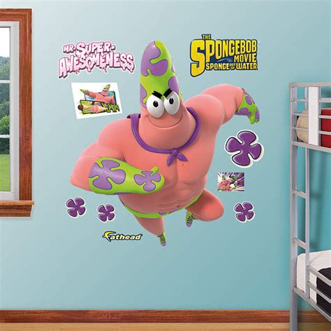 mr wall stickers fathead spongebob mr superawesomeness wall decals