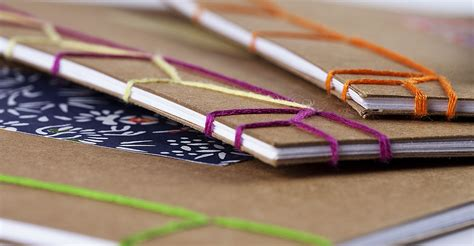 Handmade Bookbinding - learn how to make a book using the japanese binding stitch
