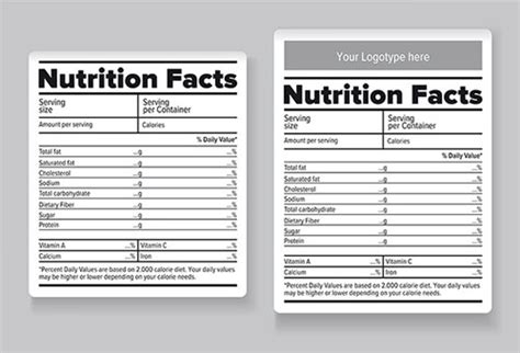 Baby Shower Nutrition Facts Label Template