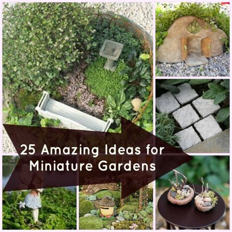 25 accessories for miniature gardens