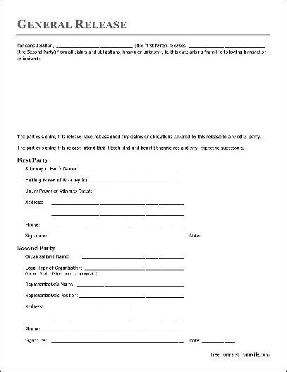free basic release form attorney in fact to organization