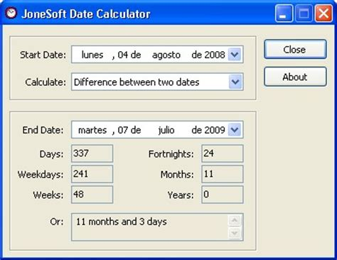 calculator days jonesoft date calculator download