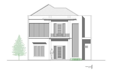 Gambar Contoh 67 desain rumah minimalis 2 lantai autocad desain rumah