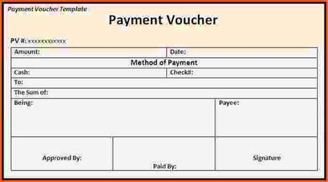 payment voucher template payment vouchers template payment voucher template excel