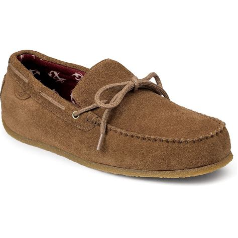 sperry house shoes sperry topsider men s rr moc 1 eye slippers fontana sports