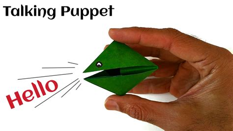 How To Make Puppets Out Of Paper - easy and origami paper quot talking puppet