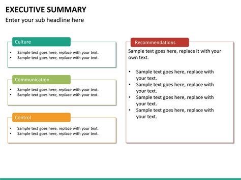 19 executive summary ppt template free executive summary