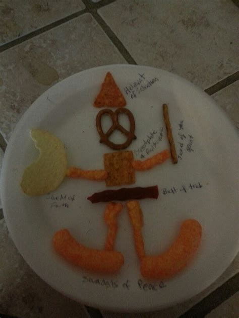armor of god crafts for armor of god craft with food church ideas