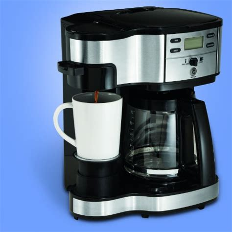 Hamilton Beach 49980Z Two Way Brewer Single Serve and 12 cup Coffee Maker, Stainless Steel