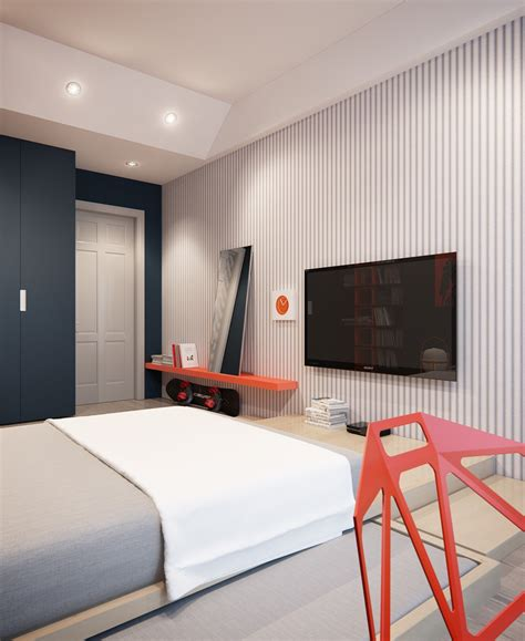 cool bedroom features a modern apartment with classic design features that would