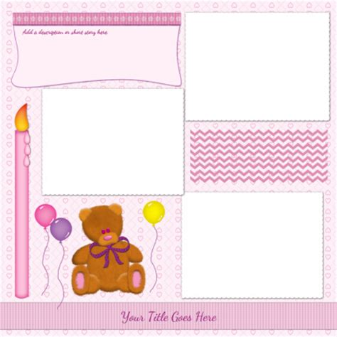 scrap book template printable templates for scrapbooking images