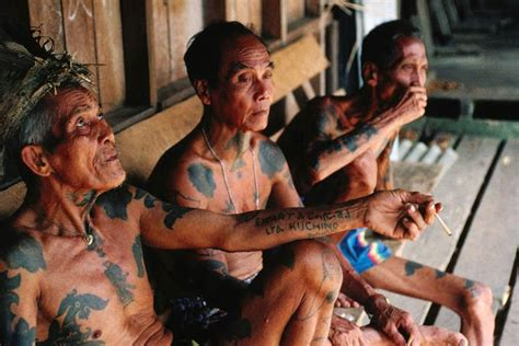tattoo orang dayak the 101 on malaysia s orang asli native community they