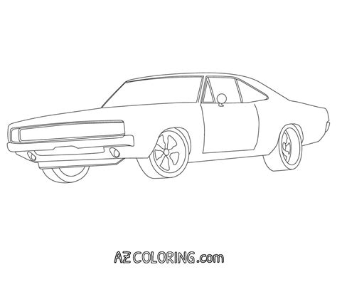dodge charger coloring pages az coloring pages