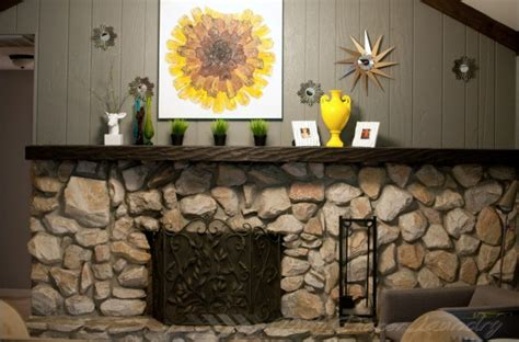 the diy faux stacked wood fireplace screen that almost