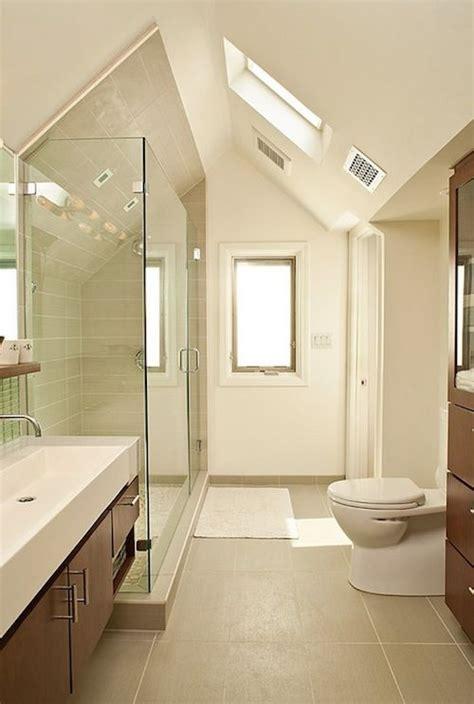 bathroom in the attic attic designs bathroom wood cabinets attic bathroom