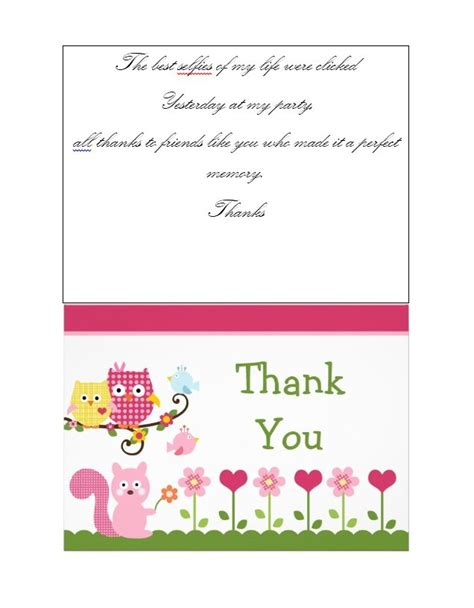 Free Templates For Thank You Cards