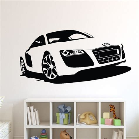 car wall sticker t06054 creative boy bedroom car wall stickers large car sports car wall decal home decor