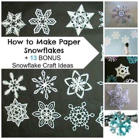 How To Make A 6 Pointed Paper Snowflake - how to make paper snowflakes 13 bonus snowflake craft