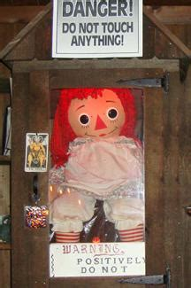 annabelle doll in museum the warren s occult museum lovetoknow