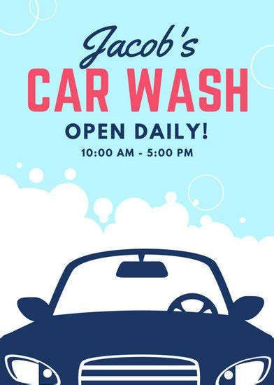 Customize 77 Car Wash Flyer Templates Online Canva Car Wash Poster Template