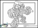 Skylanders Giants Coloring Pages   Team colors