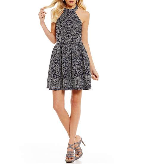 dress pattern fit and flare b darlin glitter pattern fit and flare dress dillards