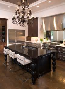and sumptuous black chandeliers - Kitchen Island Chandeliers