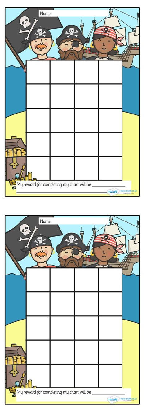 printable reward charts ks1 twinkl resources pirate sticker st reward chart
