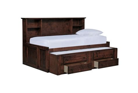 roomsaver bed sedona twin roomsaver bed w 2 drawer captains trundle