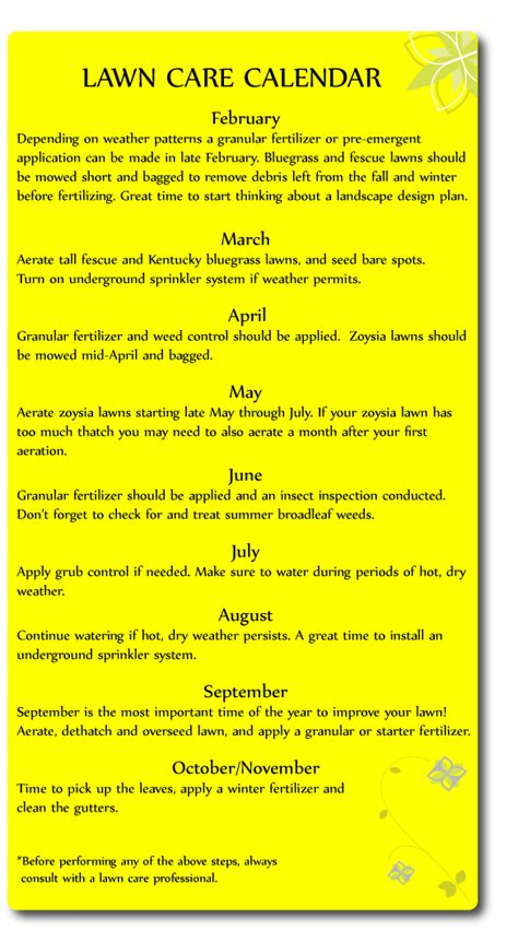 lawn maintenance calendar image search results