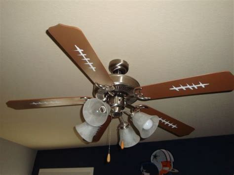 sports themed ceiling fans ceiling fan they painted it larson cade s zone pinterest
