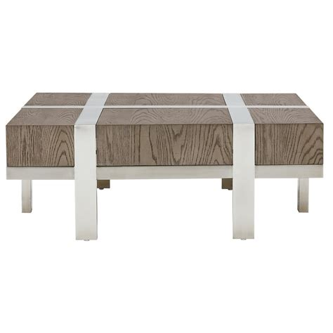 square metal coffee table city furniture leigh metal wood square coffee table