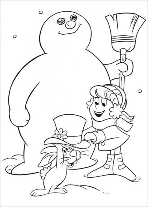 melting snowman coloring page free printable frosty the snowman coloring pages best