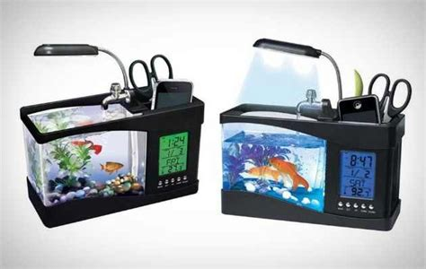 desk fish tank peces y peceras pinterest
