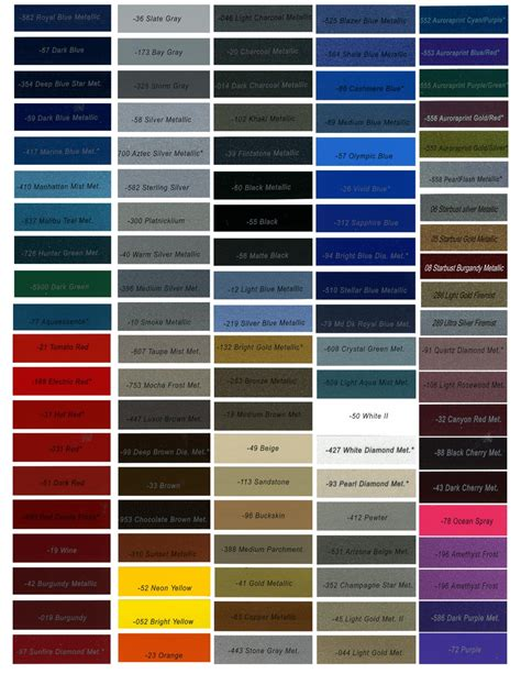 auto paint colors blue car paint color chart car interior design