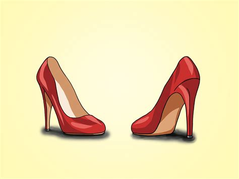 a to heel how to draw a high heel clipart best