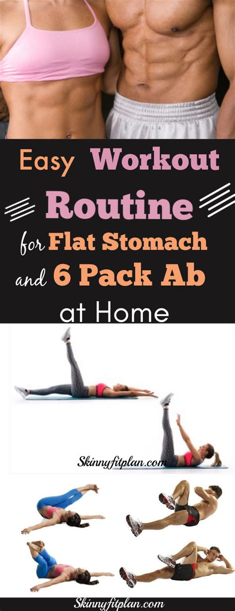 workout routine  flat stomach   pack ab  home