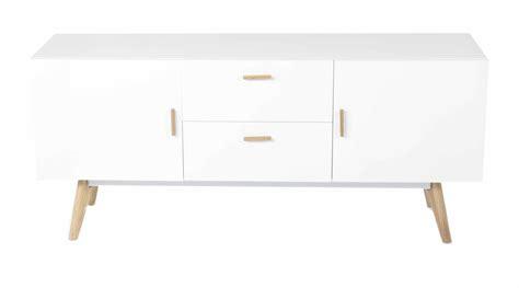 buffet blanc style scandinave 2 portes 2 tiroirs