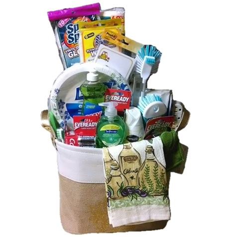 house warming gift basket necessities for new house or